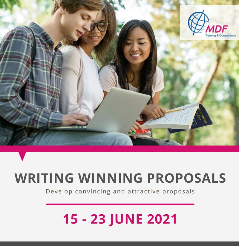 "Online training course ""Writing Winning Proposal "" 15 - 23 June 2021"