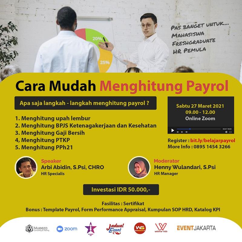 Webinar - CARA MUDAH MENGHITUNG PAYROL