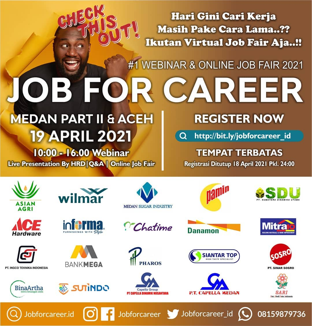 Job For Career Medan Part 2 & Aceh