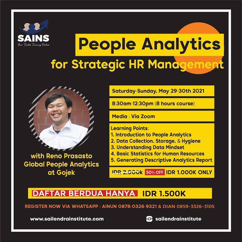 People Analytics for Strategic HR Management Training