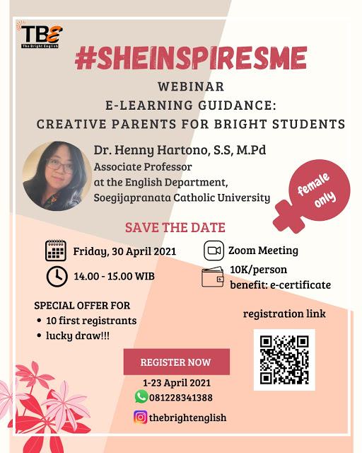 Webinar English Online #SHEINSPIRESME