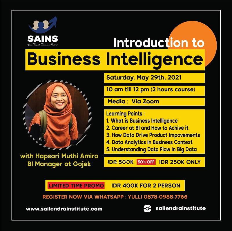 Introduction to Business Intelligence – Online Class