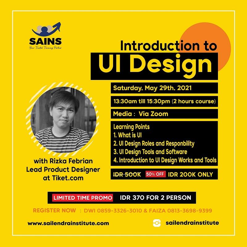 Introdcution to UI Design – Online Class
