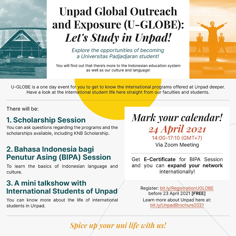 Unpad Global Outreach and Exposure (U-GLOBE): Let's Study in Unpad