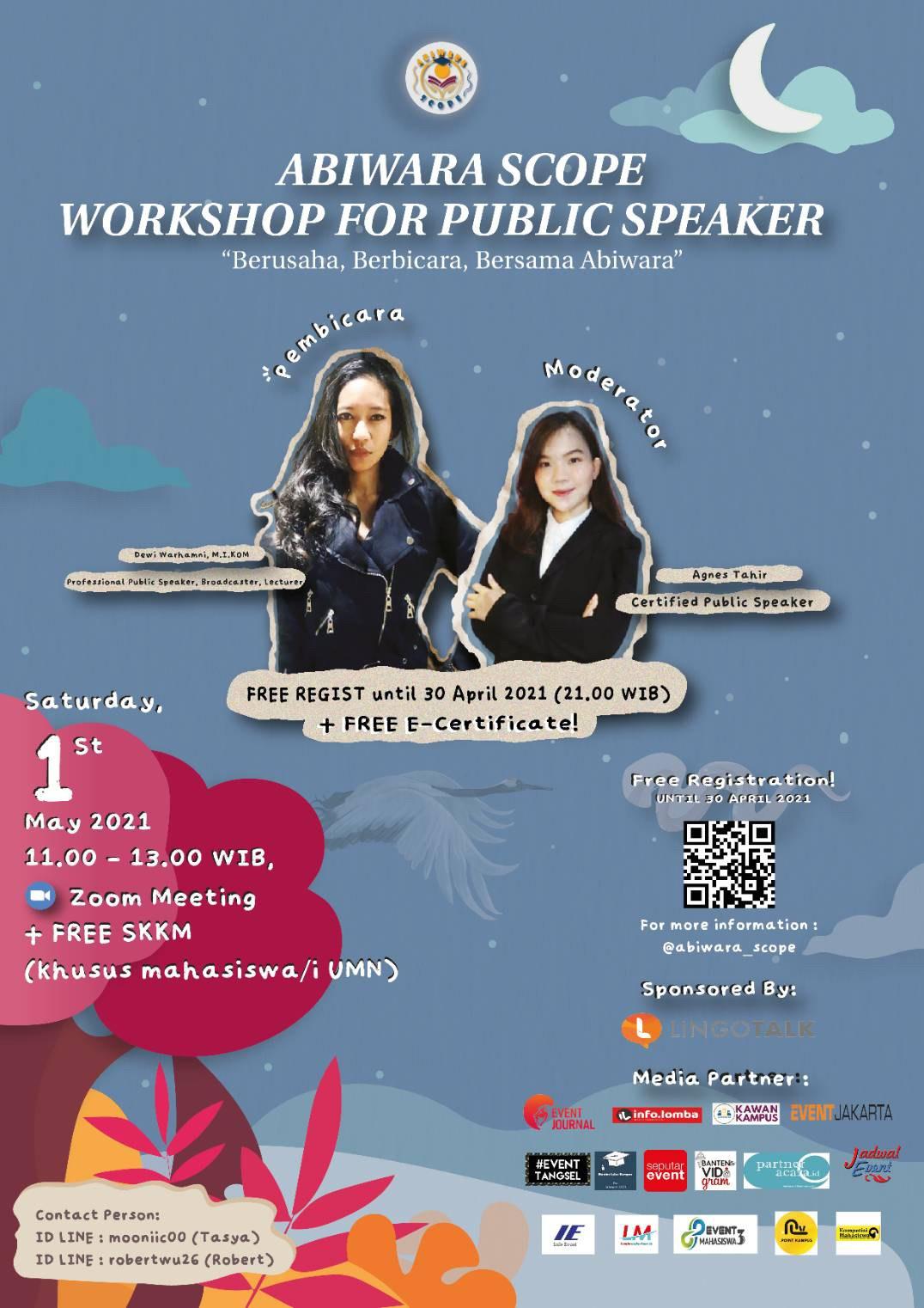Abiwara Scope - Workshop For Public Speaker