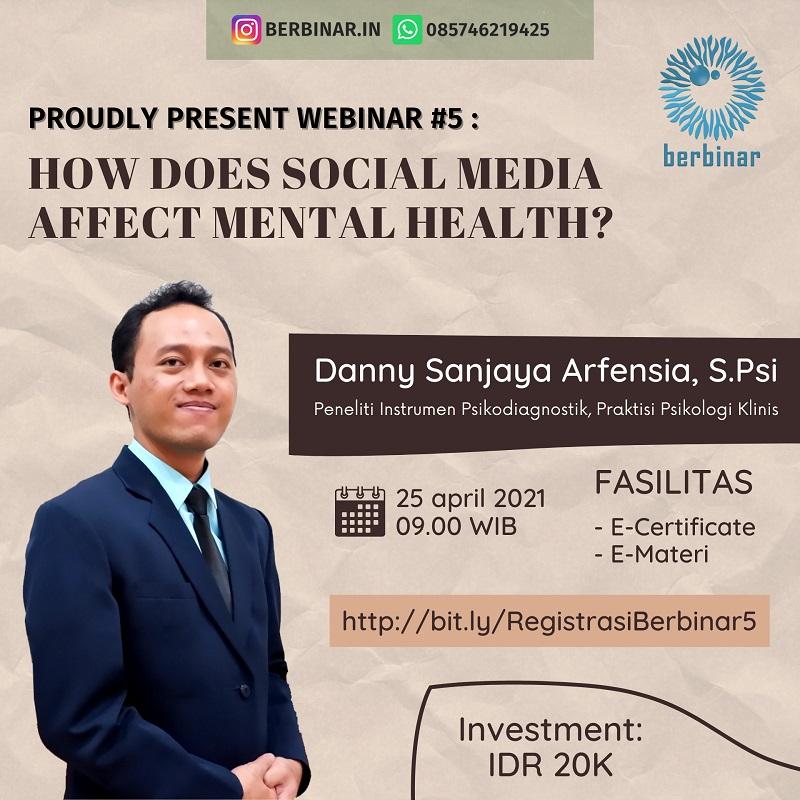 "WEBINAR ""HOW DOES SOCIAL MEDIA AFFECT MENTAL HEALTH?"""
