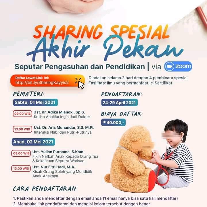 Sharing Spesial Akhir Pekan - Seputar Pengasuhan dan Pendidikan Anak
