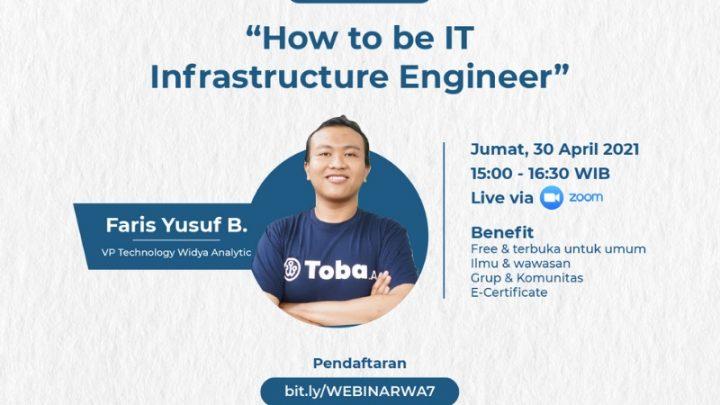 Webinar Widya Analytic 7 – How to be IT Infrastructure Engineer