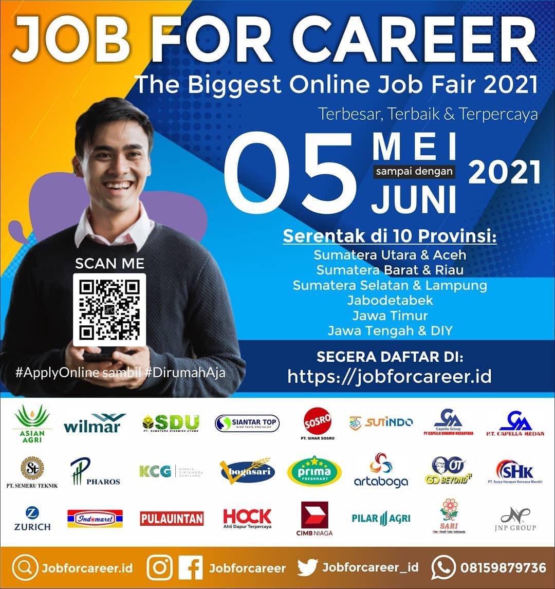 JOB FOR CAREER - The Biggest Online Job Fair 2021