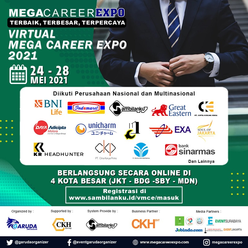 Virtual Mega Career Expo - Mei 2021