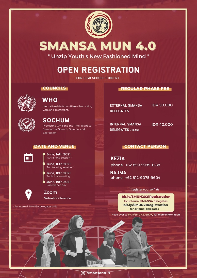 """SMUN 4.0 : """"Unzip Youth's New Fashioned Mind"""""""