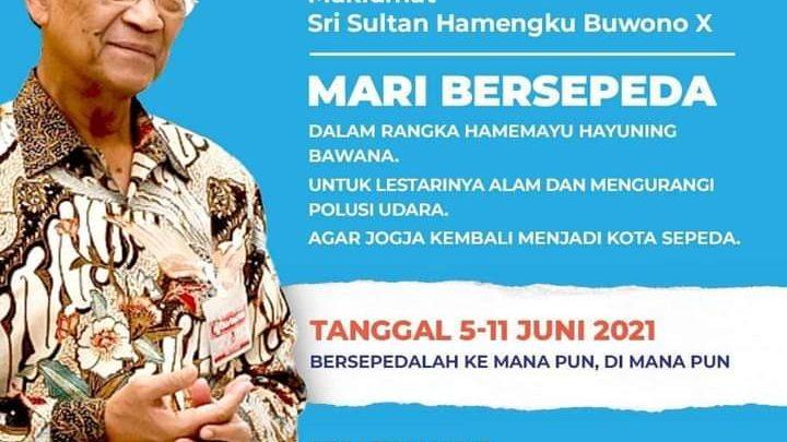 Maklumat Sri Sultan Hamengku Buwono X – Mari Bersepeda