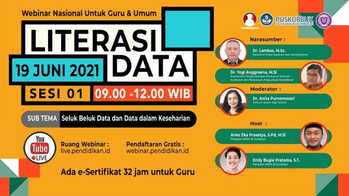 Webinar – LITERASI DATA (Sesi 1 dari 3): Seluk Beluk Data dan Data dalam Keseharian