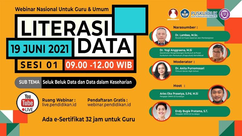 Webinar - LITERASI DATA (Sesi 1 dari 3): Seluk Beluk Data dan Data dalam Keseharian