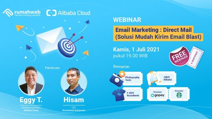Free Webinar: Email Marketing: Direct Mail (Solusi Mudah Kirim Email Blast)