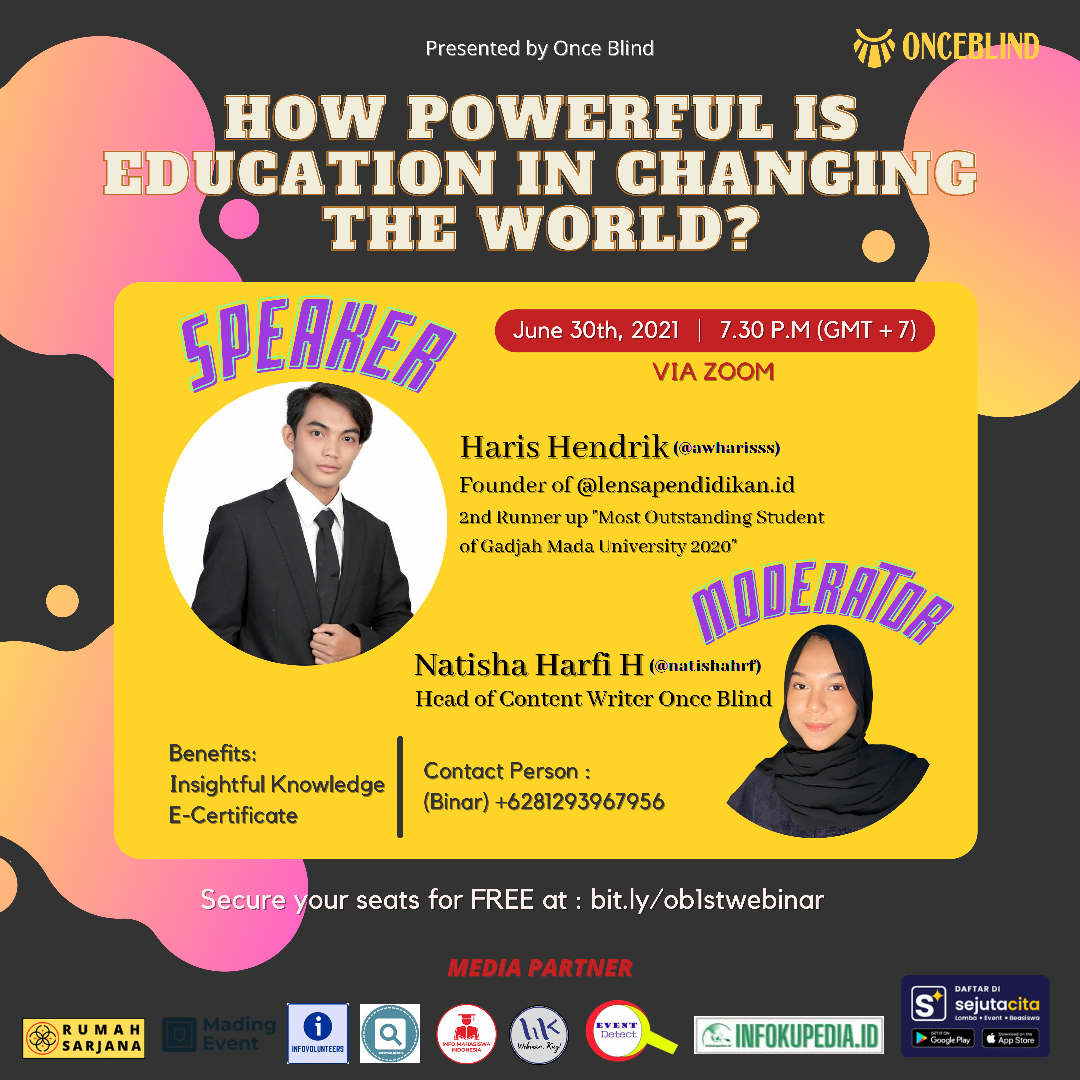 """Webinar """"How Powerful is Education in Changing the World?"""""""