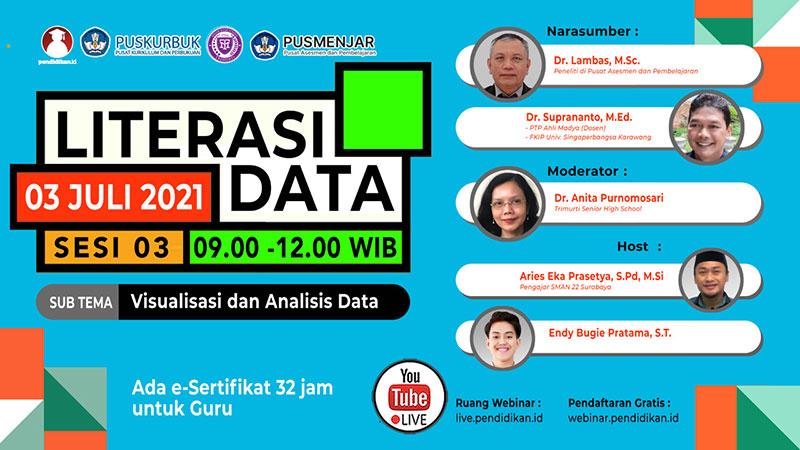 Webinar Pendidikan Nasional Sesi #51 - LITERASI DATA (Sesi 3 dari 3): Mengelola dan Penyimpanan Data