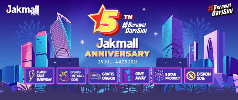 Promo HUT Jakmall - 5th Jakmall Anniversary