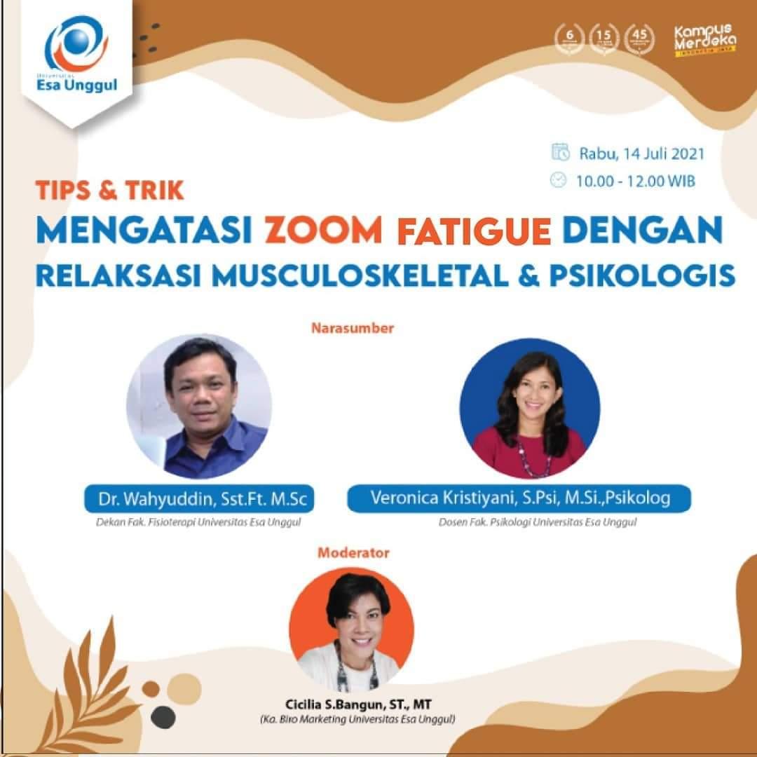 Tips n Trik Mengatasi Zoom Fatigue dengan Relaksasi Musculoskeletal & Psikologis