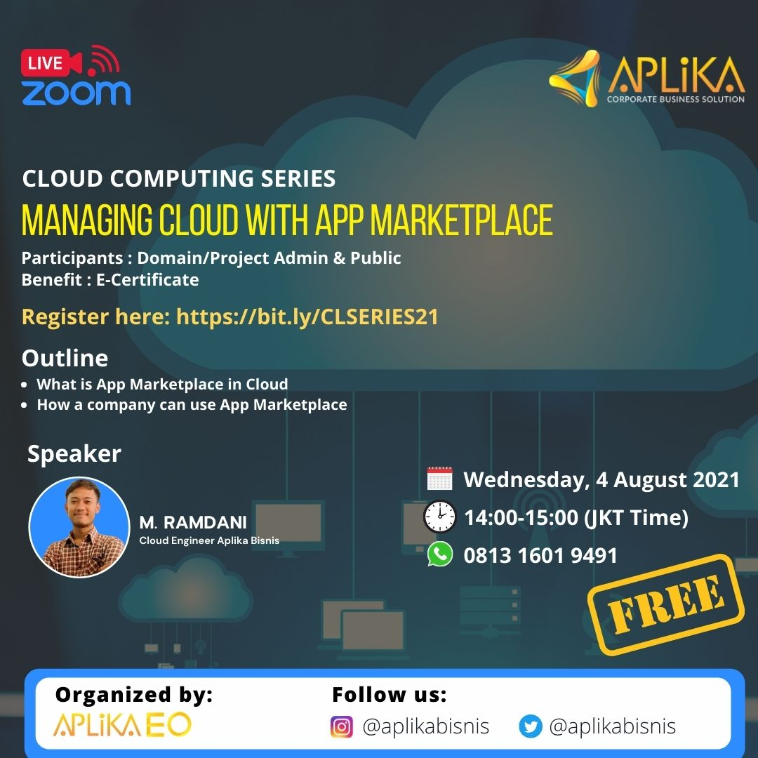 """CLOUD COMPUTING SERIES """"MANAGING CLOUD WITH APP MARKETPLACE"""""""