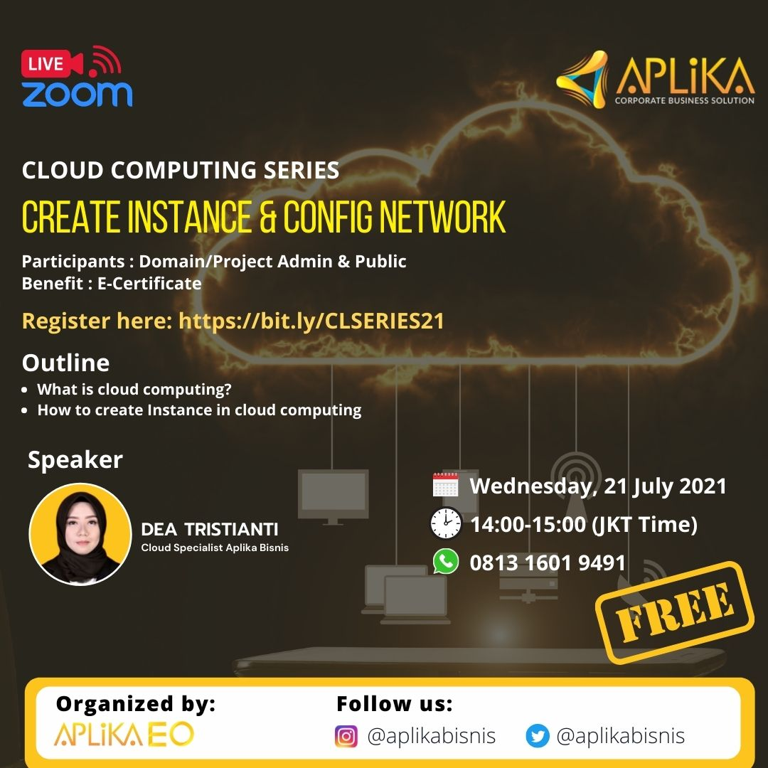 "Webinar Cloud Computing Series ""Create Instance & Config Network"""