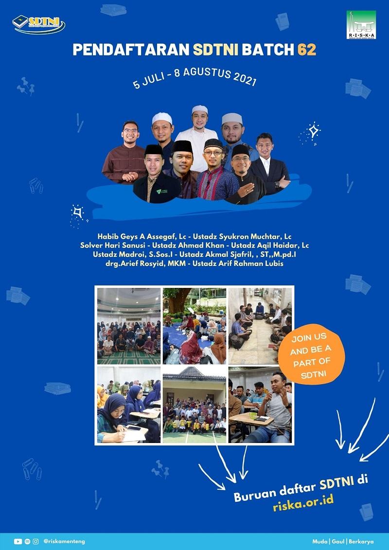 Studi Dasat Terpadu Nilai Islam (SDTNI) Batch 62 - 2021