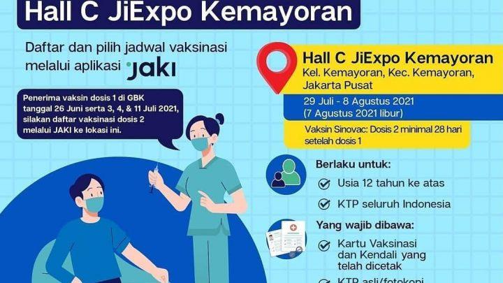 #SerbuanVaksinasi bersama Sentra Vaksinasi Kolaborasi di Jakarta!