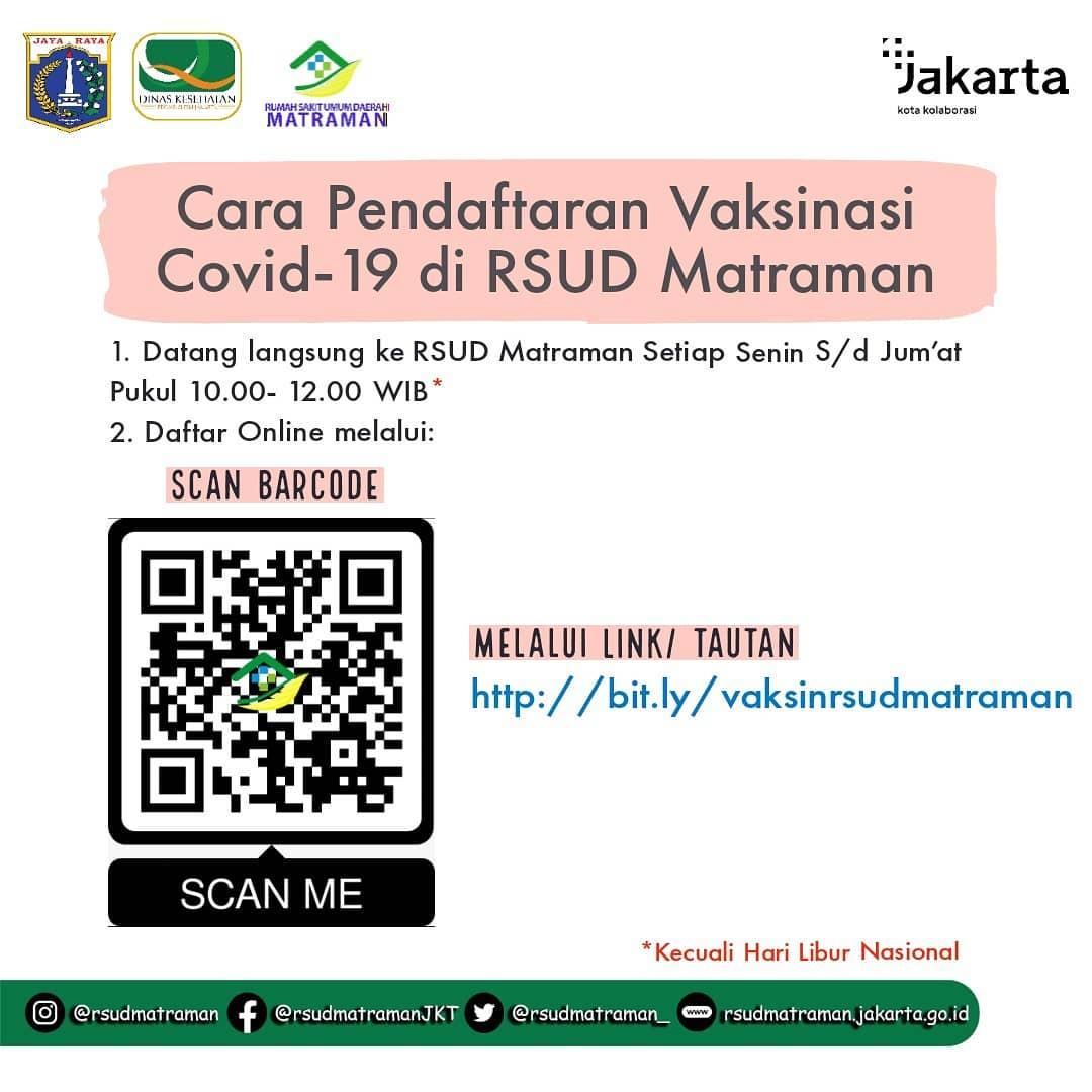Vaksinasi COVID-19 - RSUD Matraman, Jakarta