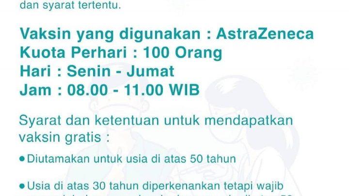Daftar Jadwal dan Program Vaksinasi Covid-19 Yogyakarta