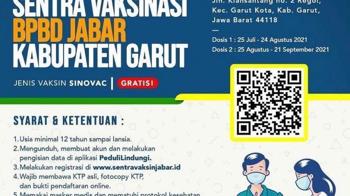 Vaksinasi BPBD Jabar – Kabupaten Garut
