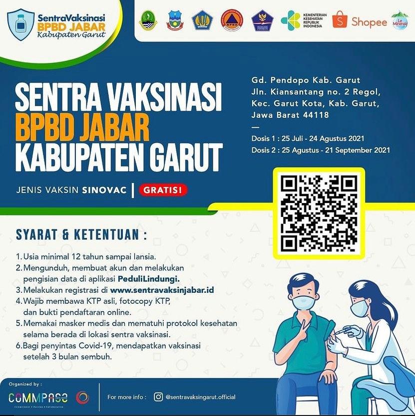Vaksinasi BPBD Jabar - Kabupaten Garut
