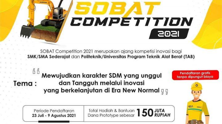 SOBAT Competition 2021 | Total hadiah dan dana prototype hingga 150 Juta Rupiah