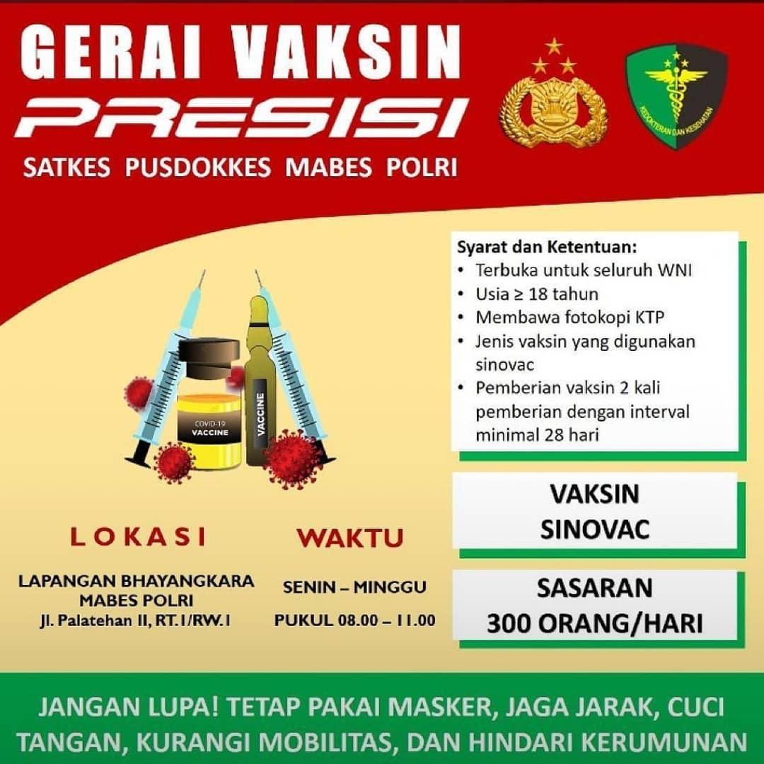 Gerai Vaksin Presisi - Mabes Polri Jakarta