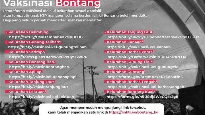 Daftar Vaksinasi Kota Bontang