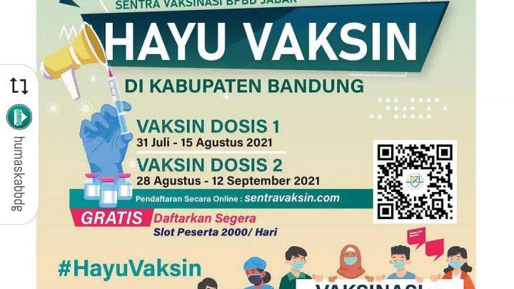 Hayu Vaksin! Kabupaten Bandung