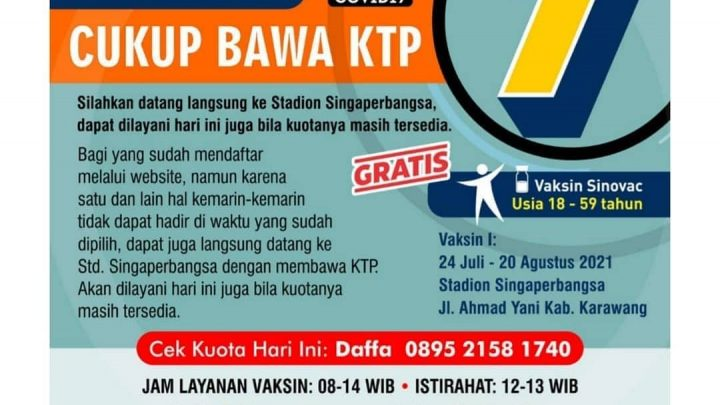 Vaksinasi BPBD Jabar – Kabupaten Karawang