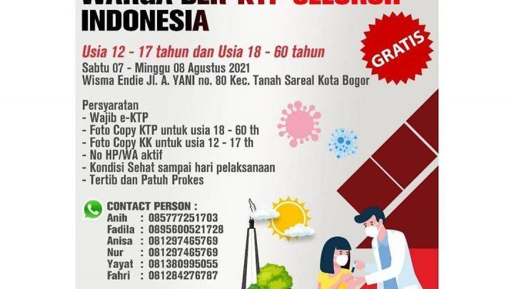 Vaksin Covid-19 Kota Bogor (untuk umum)