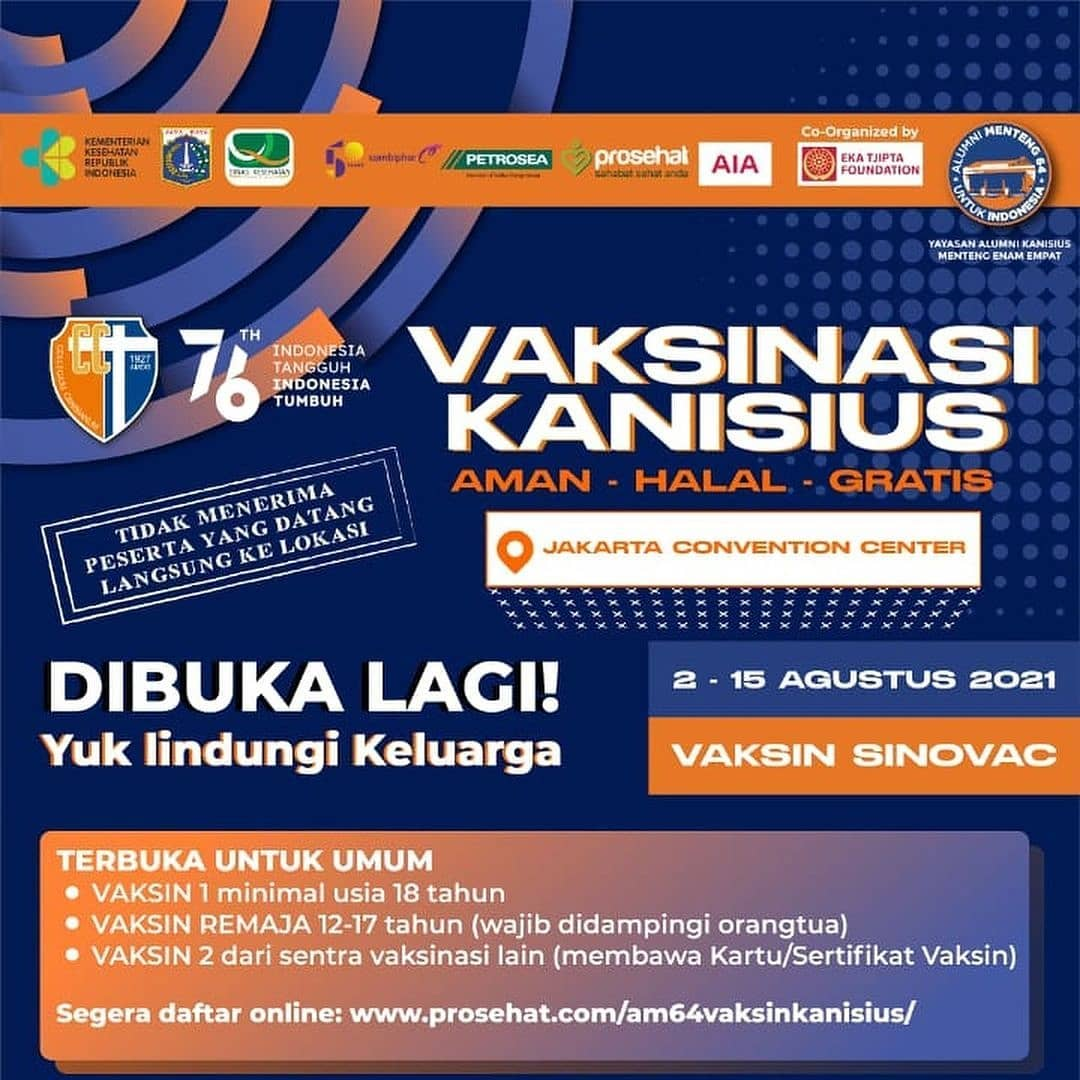 VAKSINASI KANISIUS - Jakarta