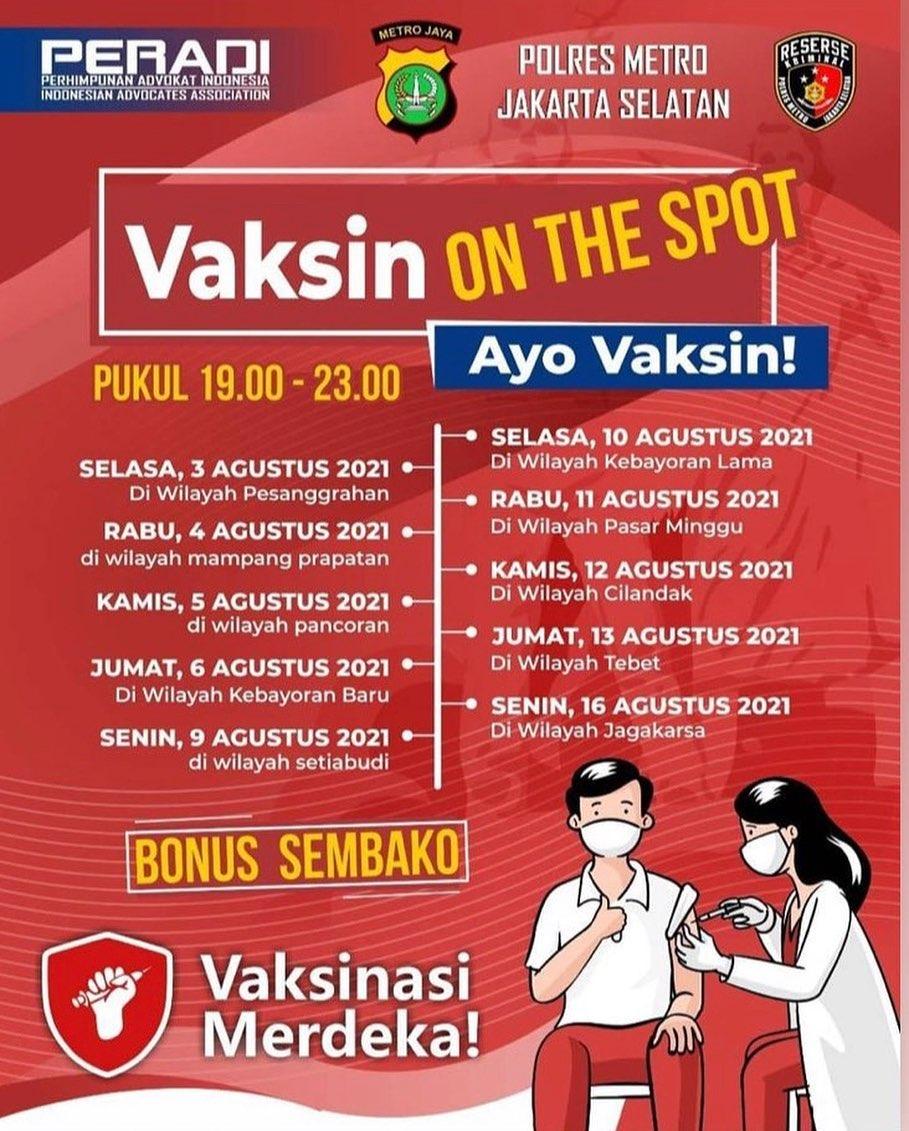 Vaksin On The Spot - Jakarta
