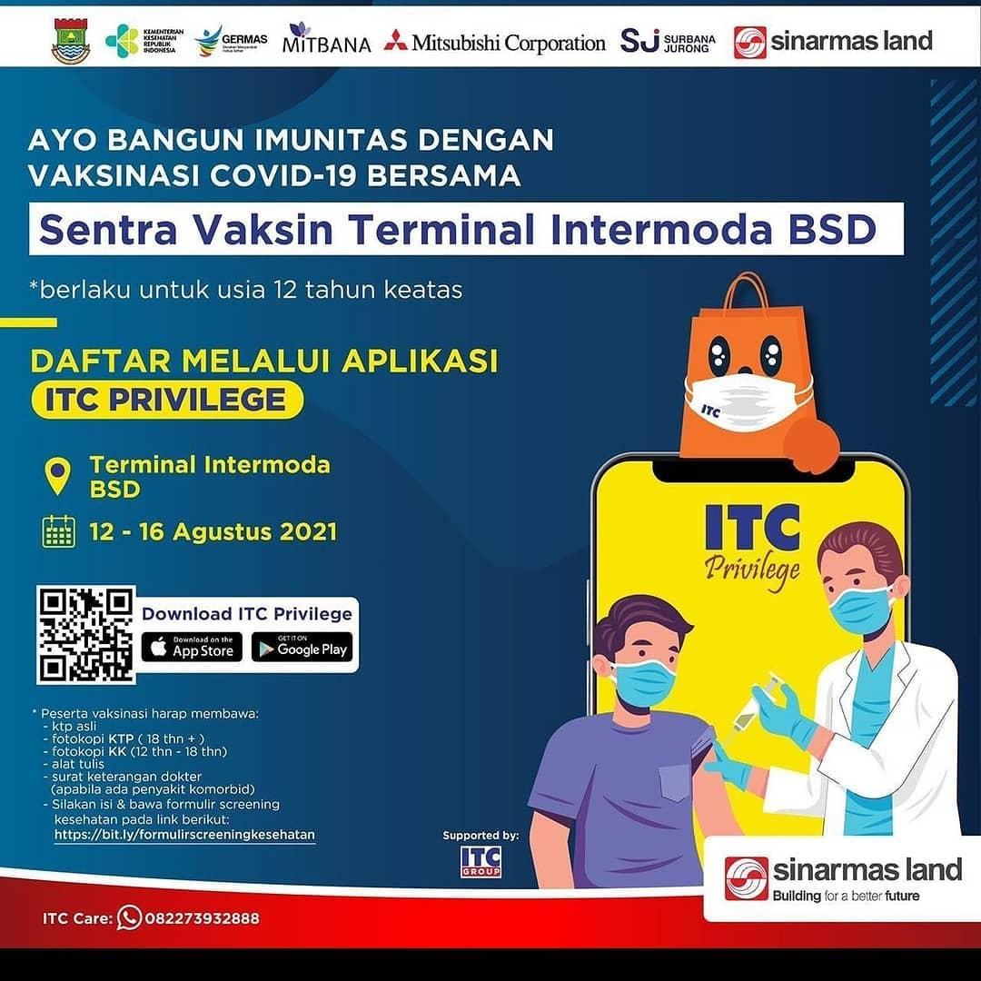 Vaksinasi - Sentra Vaksin Terminal Intermoda BSD