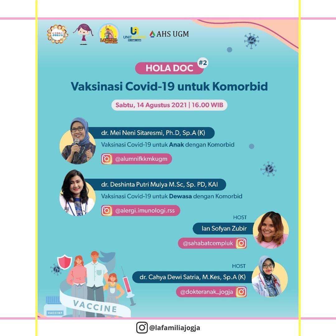 Talkshow - Vaksinasi Covid-19 untuk Komorbid