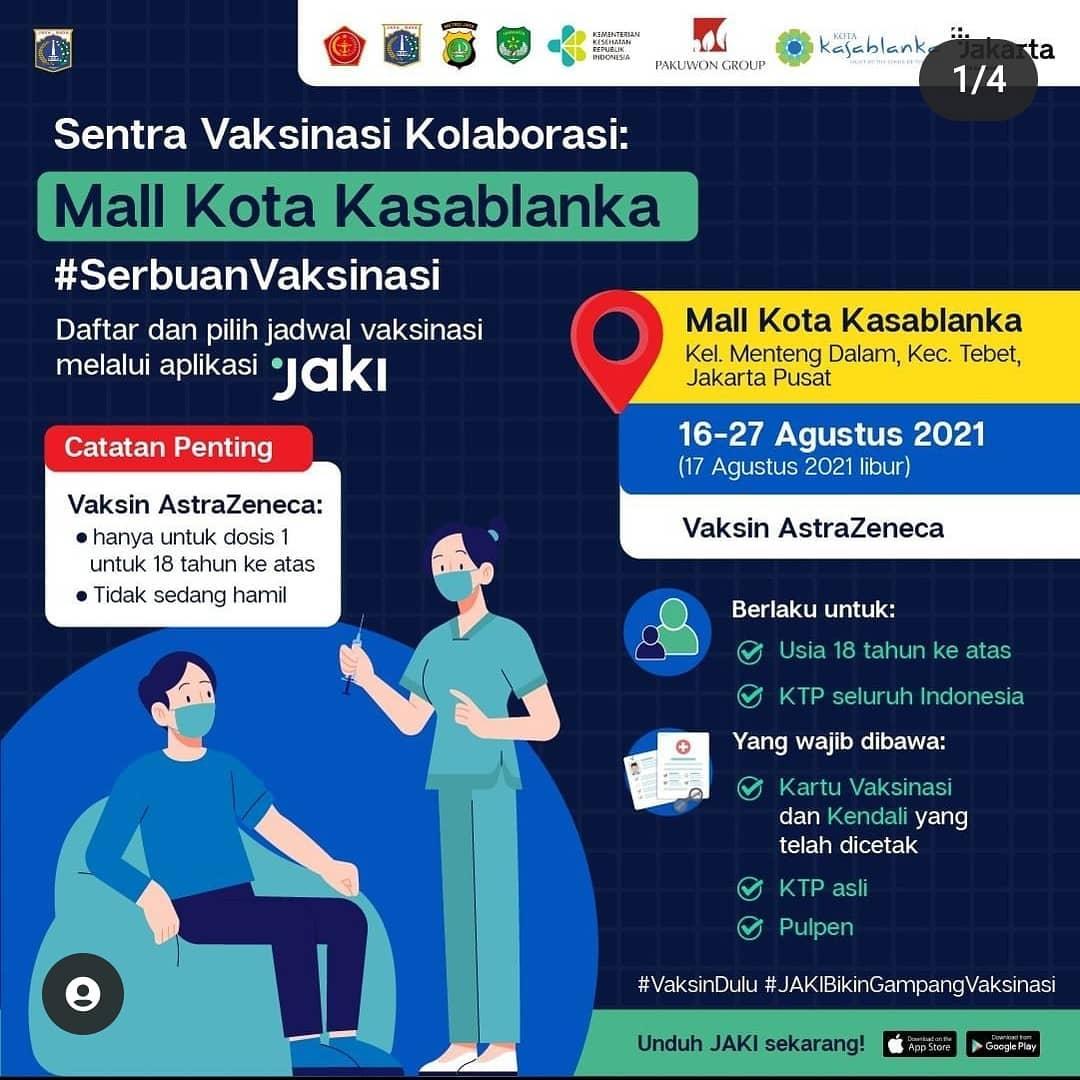 Sentra Vaksinasi Kolaborasi - Mall Kota Kasablanka