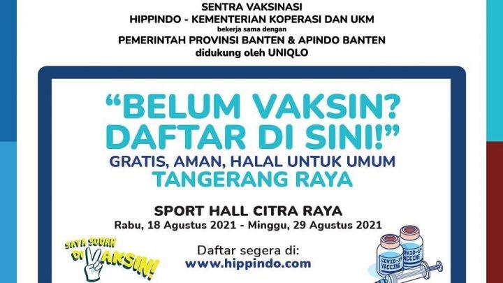 Sentra Vaksinasi Hippindo Tangerang Raya