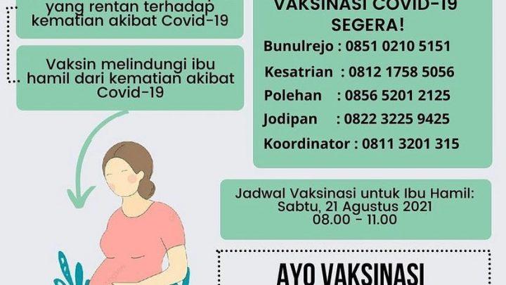 Vaksin Ibu Hamil – Kendalkerep Kota Malang