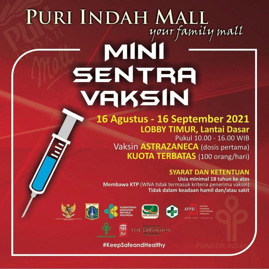 Mini Sentra Vaksin - Puri Indah Mall