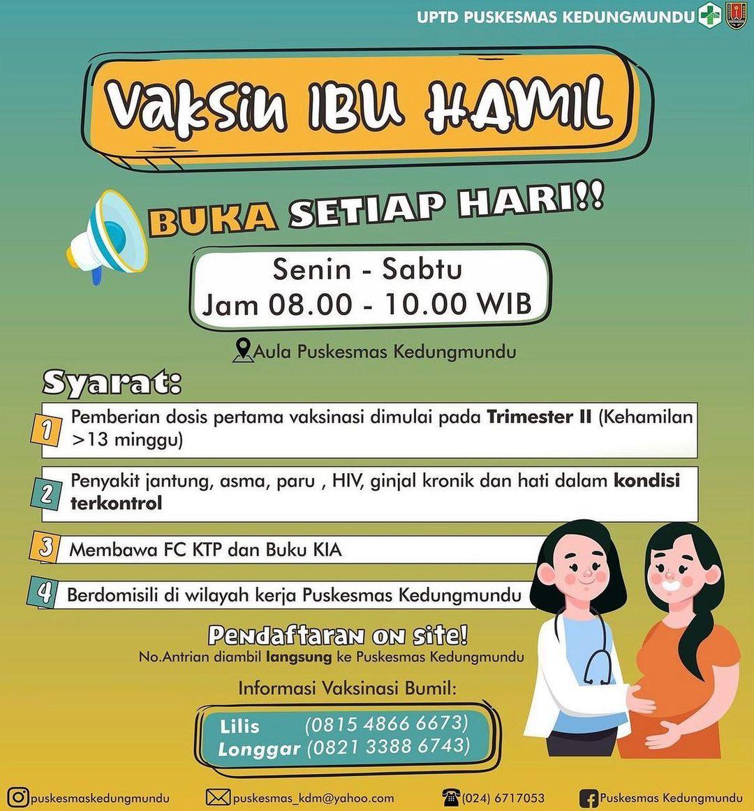 Vaksin Ibu Hamil - Kedungmundu Semarang
