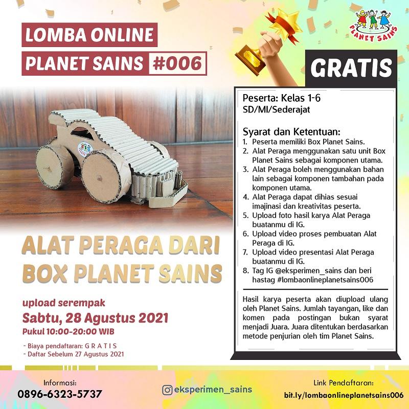 GRATIS! - Lomba Online Planet Sains #006