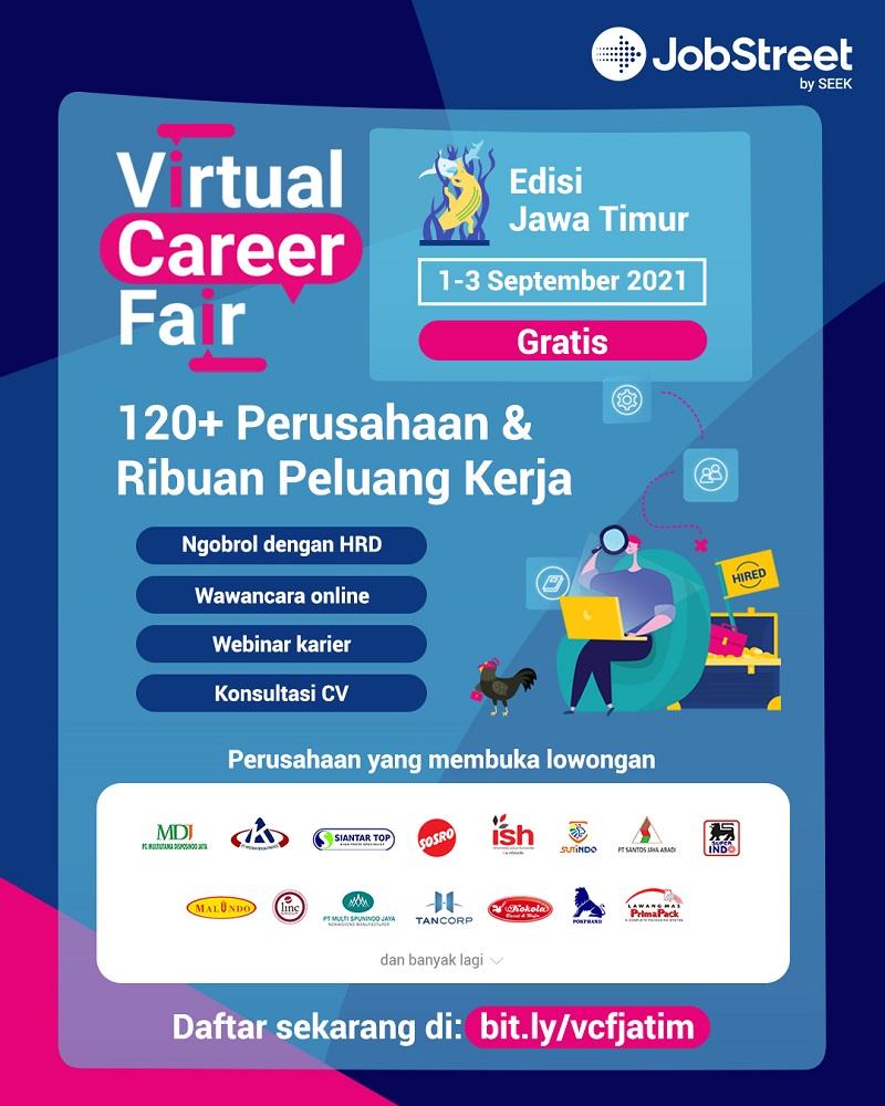 Virtual Career Fair JobStreet edisi Jawa Timur