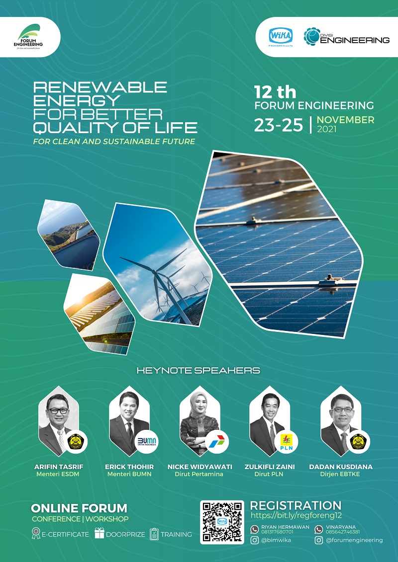FORUM ENGINEERING 2021: Renewable Energy for Better Quality of Life
