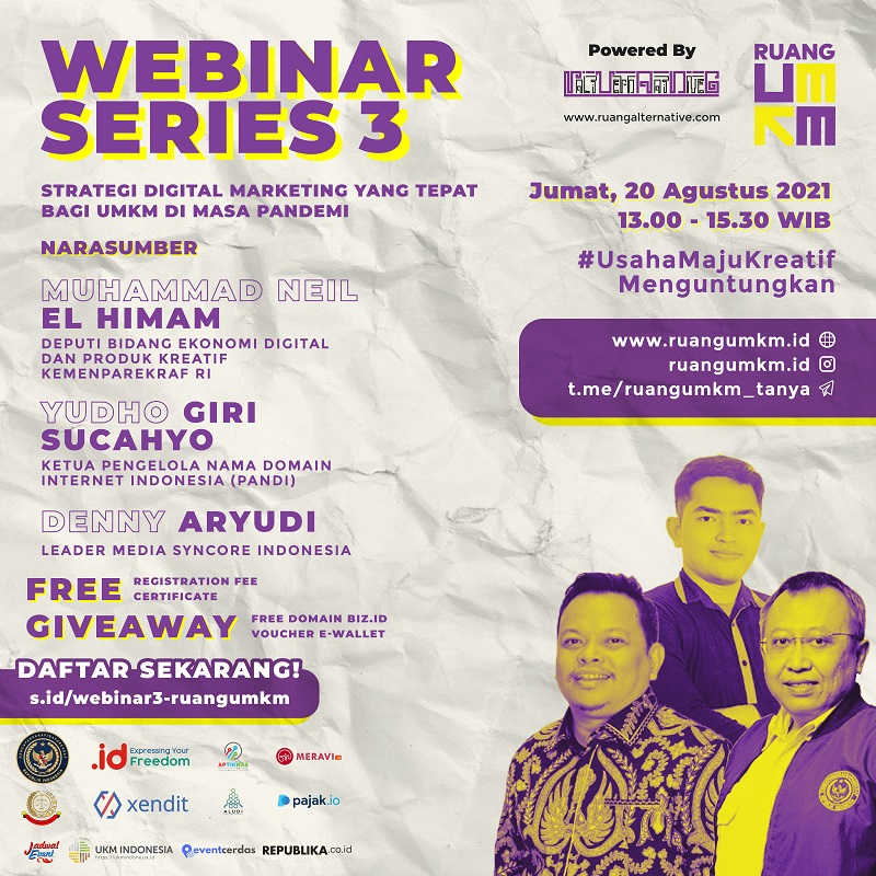 """Ruang UMKM Festival - Webinar Series 3 """"Strategi Digital Marketing yang Tepat Bagi UMKM di masa Pandemi?"""""""